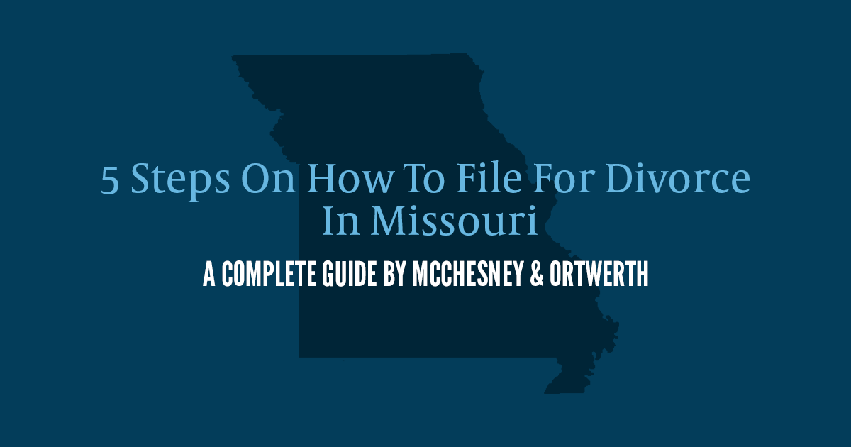 how to file for divorce in Missouri